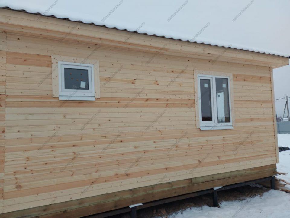 Одноэтажный каркасный дом 9х9 под ключ с террасой, проект, цена фото 6