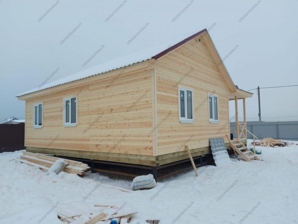 Строительство каркасного дома 9х9 Исаково